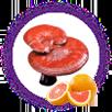 Nấm linh chi và cam đỏ chống oxy hóa cực tốt